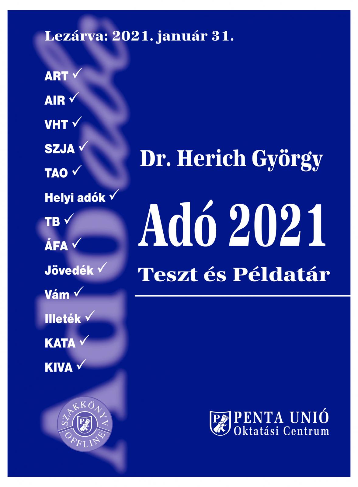 Adó 2021 Teszt és példatár