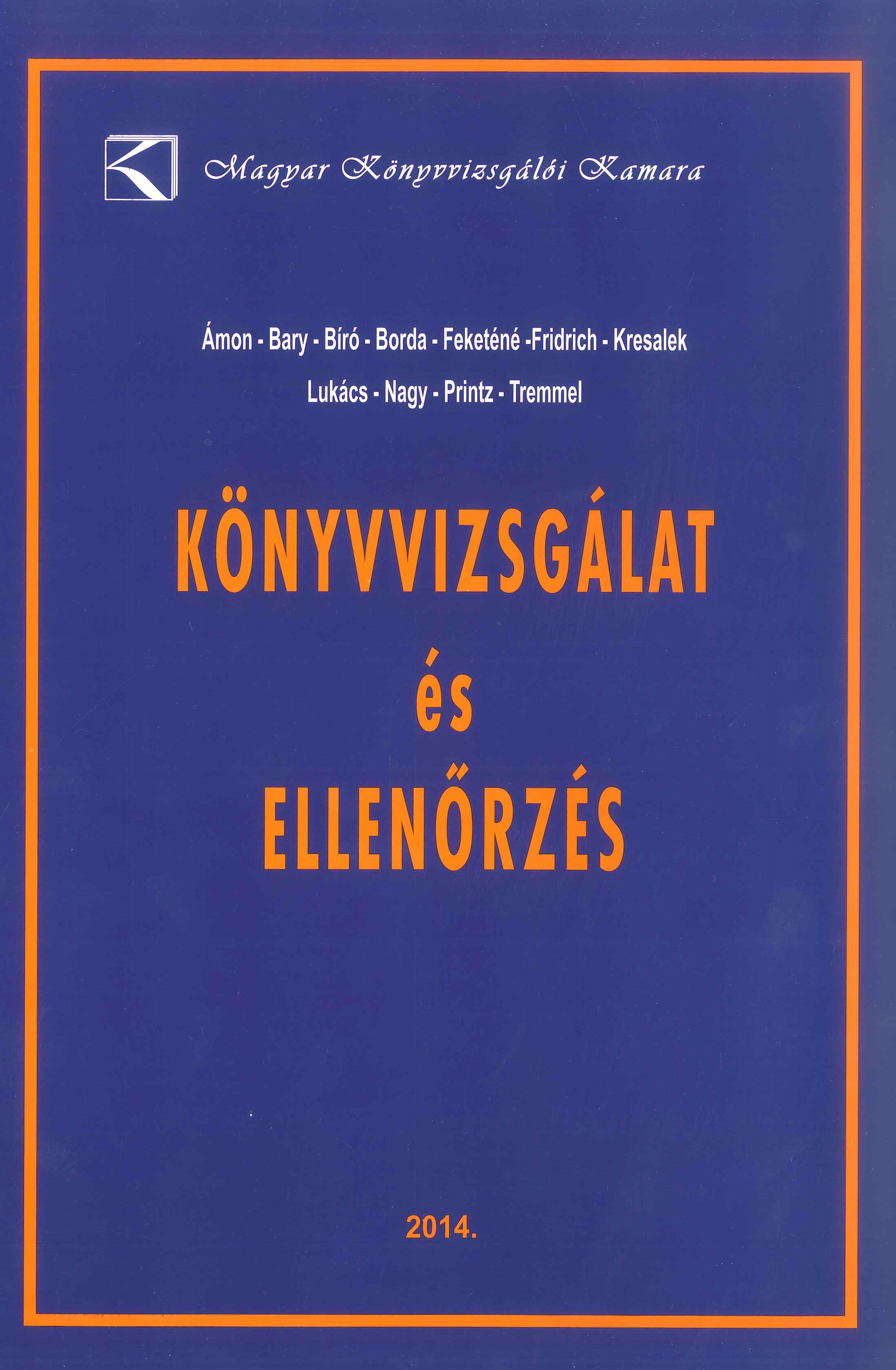 Könyvvizsgálat és ellenőrzés (MKVK)